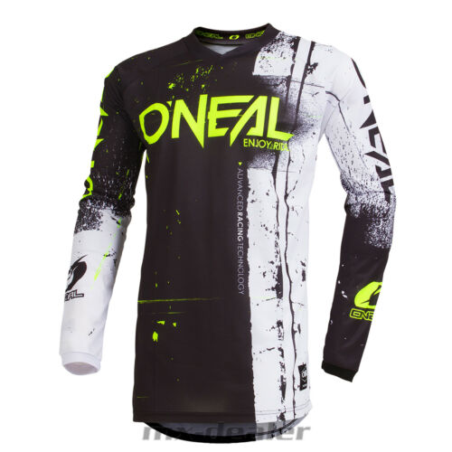 O 'Neal Element Bambini Jersey Shred NERO KIDS MAGLIA MX DH MTB BMX Motocross