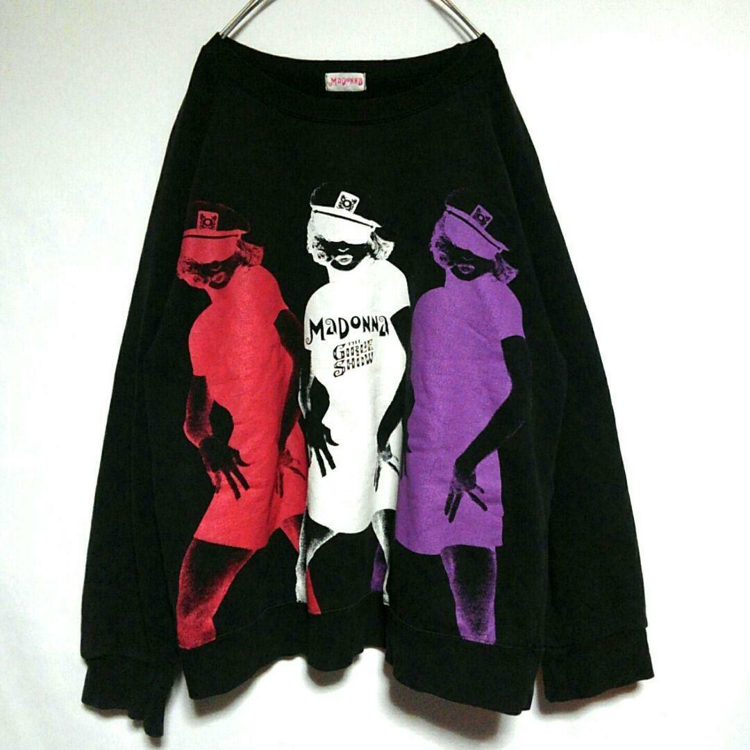 Madonna 90s Mädchen Show Crew Damen Sweatshirt GRÖSSE S Schwarz Gebraucht