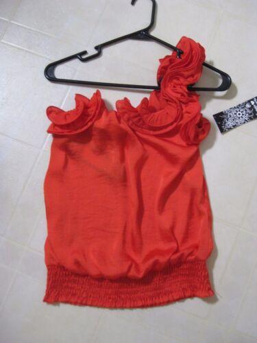 M Cold By Shoulder Bnwt Orange One Top Hearts Sequin Taglia FR8x6qPwx