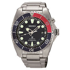 BRAND NEW MENS SEIKO Blue & Red Bezel Prospex DIVER'S KINETIC WATCH (SKA369P1)