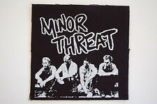"""Minor Threat Patch Sew On Badge Punk Rock Music Approx 4""""X4"""" (CP56)"""