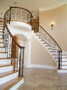 Image Is Loading Fitts Stair Parts Wrought Iron Balusters Options Avail