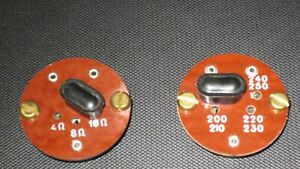 Vintage Marshall Amplifier Voltage And Impedance Sockets