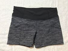 Lululemon Run: Shorty Shorts Size 4 Wee Are From Space Black Combo silicone dots