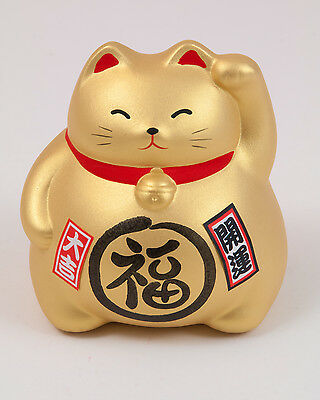 ManekiNeko Japan Glückskatze Winkekatze Spardose Glücksbringer Keramik luckycat