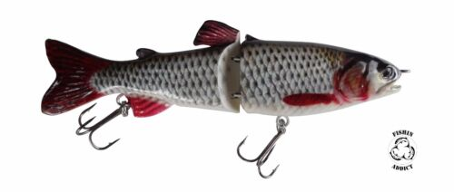 180mm Roach Swimbait injured super scales fishing lure wide glide action 7''