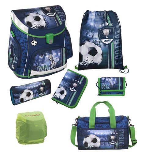 Scooli Campus Fit Sporttasche blau Pokal Football Fußball Schulranzen Set 7tlg