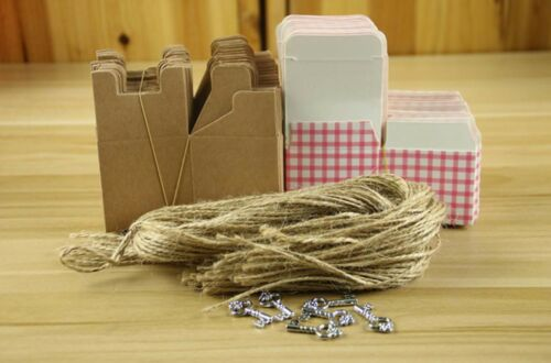 Bonbonniere Bomboniere Candy Gift Boxes 50x50x50mm European Style Pink Blue