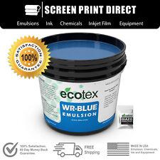 Ecotex Wr Blue Water Resistant Diazo Screen Printing Emulsion Quart 32oz