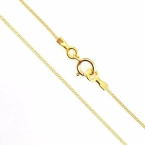 9b3bc236fc0ae Details about 22K Gold over Sterling Silver 1mm Curb Long Necklace Chain.  Vermeil. 22-36 inch