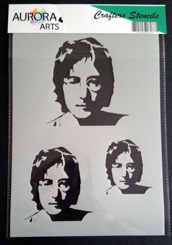 Plantilla por Aurora Artes A4 John Lennon silueta 190mic Mylar Craft plantilla 202