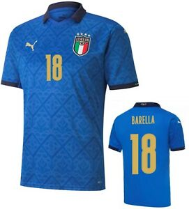 ITALIA FIGC MAGLIA BARELLA HOME 2020-21 ITALIA HOME SHIRT JERSEY TRIKOT