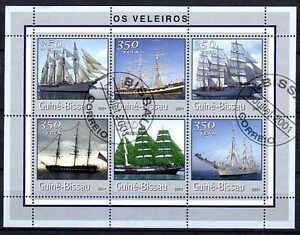 Bateaux-Guinnee-Bissau-28-serie-complete-de-6-timbres-obliteres