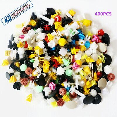 400 Pcs Plastic Mixed Size Autos Bumper Door Trim Panel Clip Fasteners