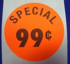 500 Self Adhesive Special 99 Labels 1 38 Stickers Retail Supplies