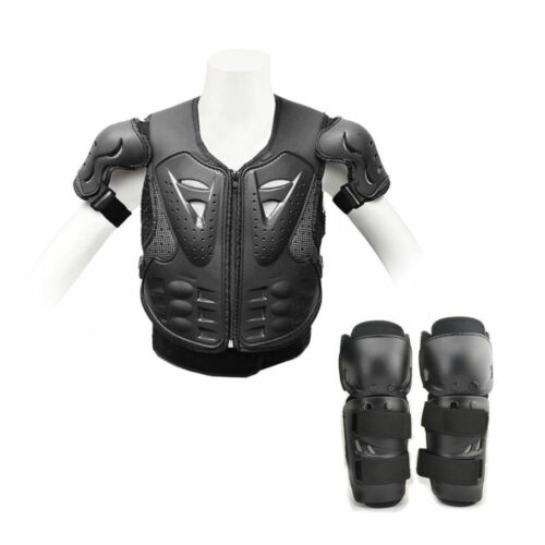 Motorcycle Protector Guard Jacket Motorbike Spine Body Armour Knee Pad Shin Kids