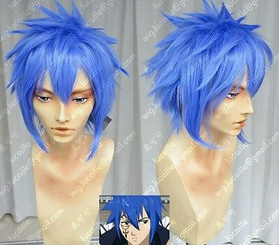 Fairy Tail Jellal Fernandez COS wig New Blue Cosplay Party Anti- Alice wigs