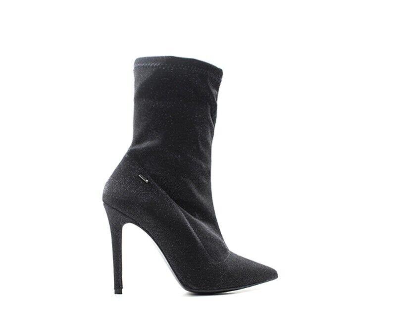 shoes LIU JO women Tronchetti  black Glitter,Tessuto S67087T9973-09N38