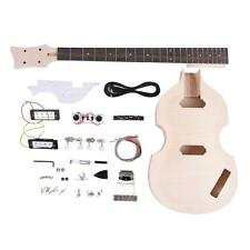 DIY Electric Bass Guitar Kit Basswood Body Maple Neck Rosewood Fingerboard F3H4