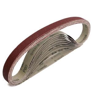 """600 Grit 20Pcs 1/"""" x 30/"""" Aluminum Oxide Abrasive Belts Sanding Belts 400"""