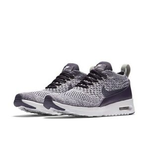 f365ca24b7bb9 NIKE AIR MAX THEA ULTRA FLYKNIT DARK RAISIN-WHITE SIZES UK4 4.5 5 ...