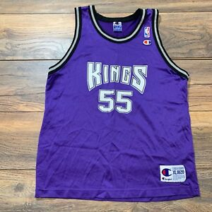 huge selection of 8d173 93ce2 Details about Vintage Sacramento Kings Jason Williams 55 Jersey Purple NBA  Champion Youth XL