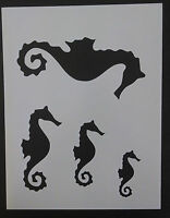Seahorse Sea Horse Seashell Sea Shells Multiple 8.5 X 11 Stencil Free Shipping