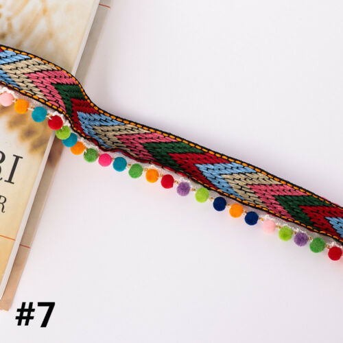Sewing DIY Craft Fabric Pompom Embroidered Ribbon Bohemia Tassel Lace Trim
