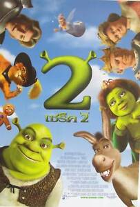 Shrek 2 Thailand Promo Movie Poster Cast In Circle Looking Down Ebay