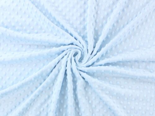 59//150cm wide SKY BLUE plush Supersoft Dimple DOT Cuddle Soft Fleece Fabric