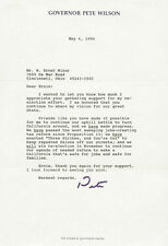PETE BARTON WILSON - TYPED LETTER SIGNED 05/04/1994