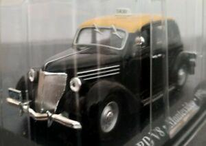 1-43-FORD-V8-TAXI-MONTEVIDEO-1950-COCHE-DE-METAL-A-ESCALA