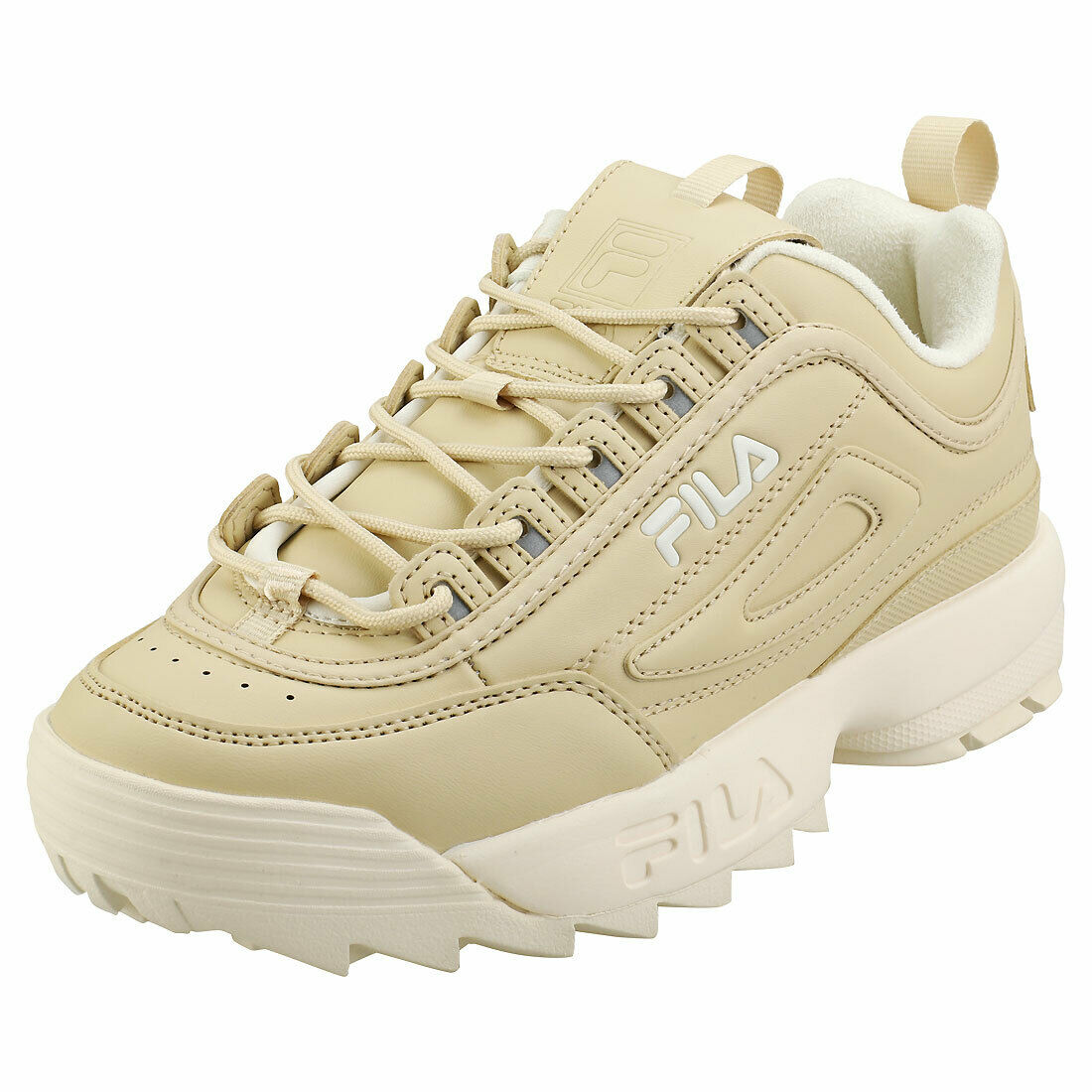 Fila Disruptor 2 Nude damen Beige Synthetic Fashion Trainers