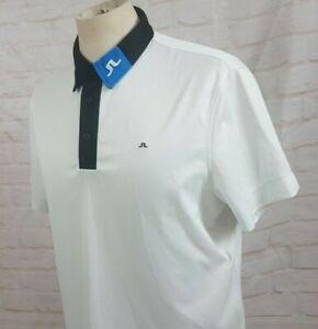J-Lindeberg-Men-039-s-Golf-Polo-Shirt-Field-Sensor-Logo-Collar-Regular-Fit-Sz-Medium