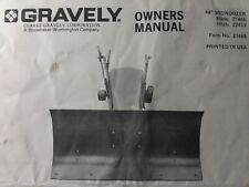 Gravely Garden Tractor 48 Dozer Push Plow Blade Implement Owner Amp Parts Manual
