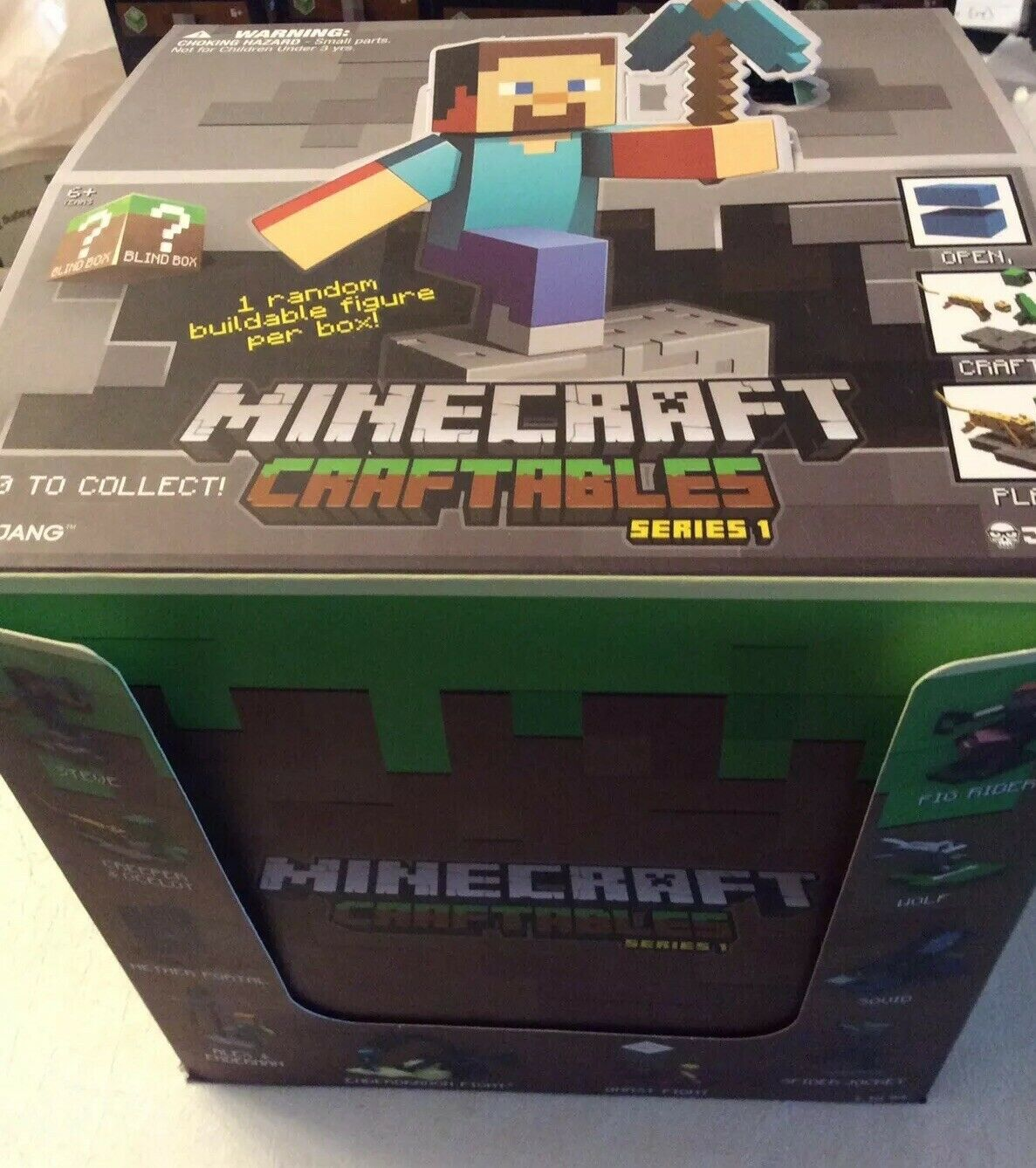 MINECRAFT CRAFTABLES SERIES SERIES SERIES 1 FULL BOX LOT OF ((27) SEALED HOT NEW SHIPS FAST f2bdf4