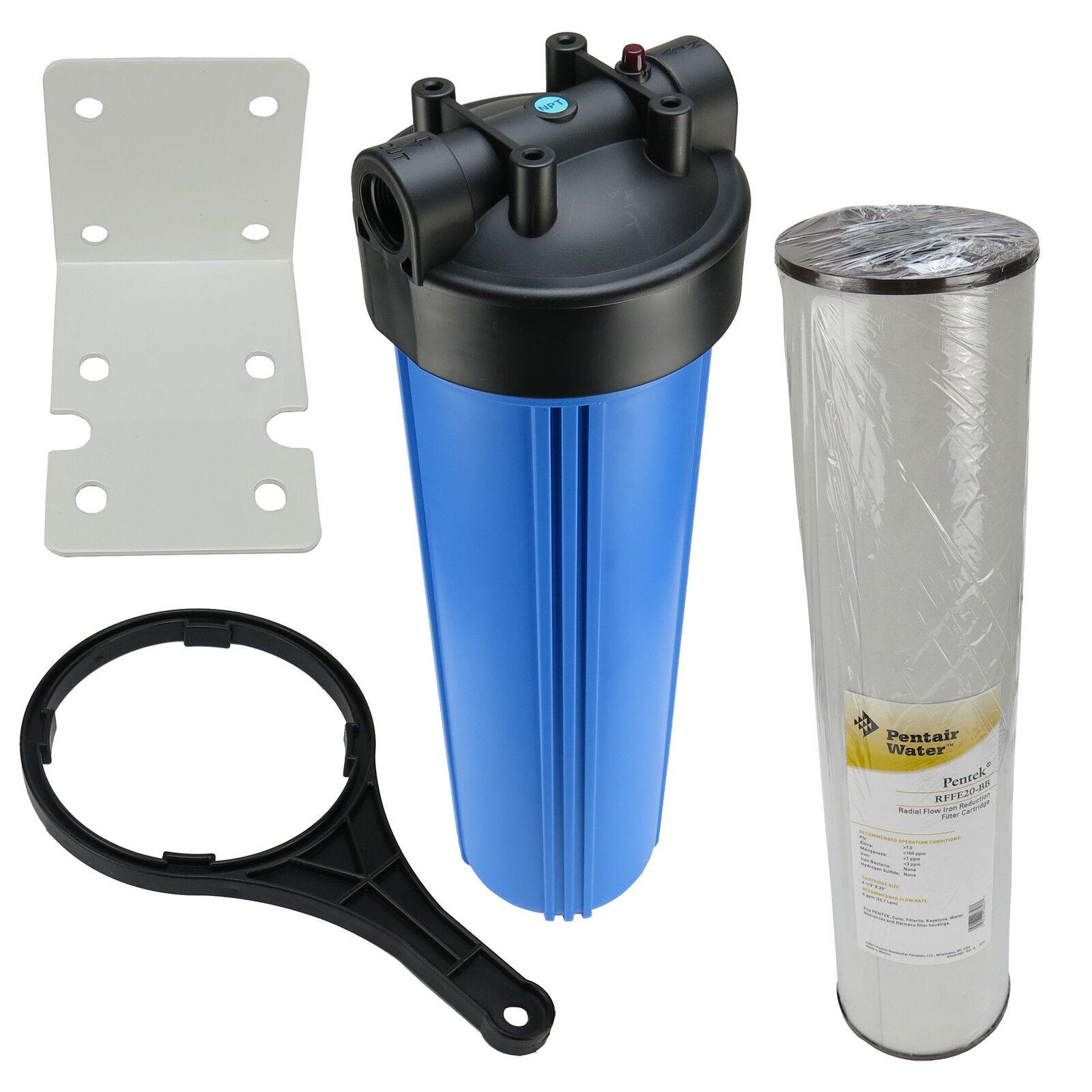Filtre à eau domestique 20 pouce BIGbleu préfiltre Jardin Filtre Fontaine + fer Filtre