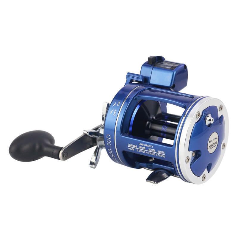 12 BB R L He Bait Casting Fishing Reel Rod Line Drum Trolling Counter rueda
