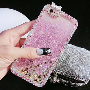 super popular a1bf4 cf09e Details about Bling Glitter Stars Water Liquid Diamond Case Cover for Apple  iPhone 5s 6 7 Plus