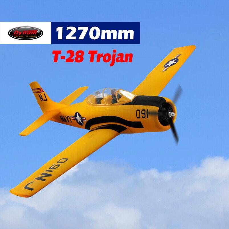 Dynam T28 Trojan amarillo 1270mm envergadura-PNP