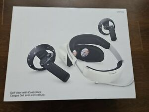 Dell VRP100 Visor With Controllers Mixed Reality VR Headset Boxed