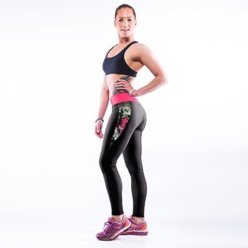 Women YOGA Workout Gym 3D Print Sports Pants Leggings Fitness Stretchy Trousers