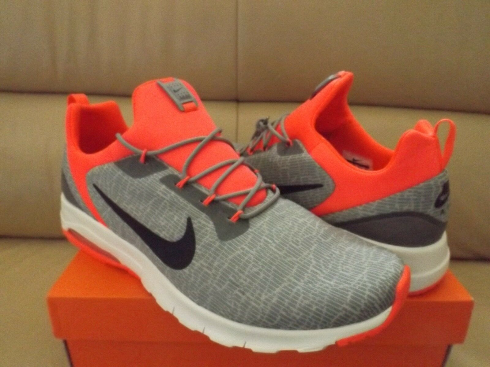 Nike Air Max Motion Racer Men's Running Shoes Gray Solar Red 916771 003 (NEW)