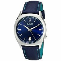 Bulova Accutron II Surveyor Blue Leather and Dial Mens Watch