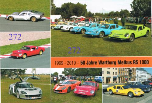 AWE 50 Jahre Wartburg Melkus Bild Postkarte 1959-2019 Eisenach 1966 K272