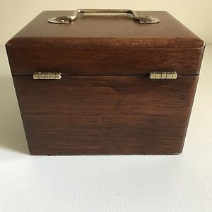 Vintage-Wooden-Hand-Made-Fishing-Reel-Case-amp-Accessories-Engraved-Col-C-R-Boehm