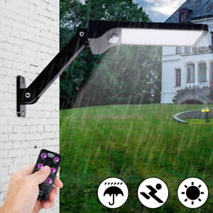 Solarleuchte-48LED-Solar-Lampe-Wandleuchte-Gartenlampe-Fluter-Mit-Fernbedienung