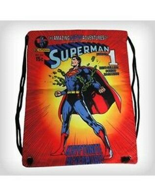 Onestà Superman Cinch Gym Bag Borsa Sacca Ginnica Vintage Official Merchandise Brividi E Dolori