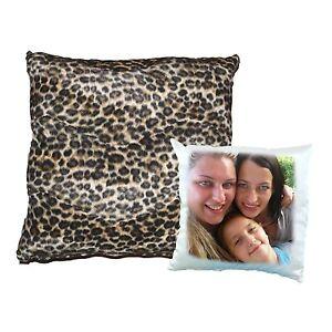 Cuscini Leopardati.Cuscino Quadrato Leopardato Personalizzato Con Foto Ebay