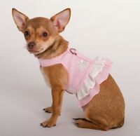 Doggles Puppy Dog Hemp Dress Harness Pink Sm